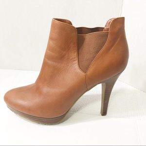 Jessica Simpson tan Leather Hendrix Booties Size 9